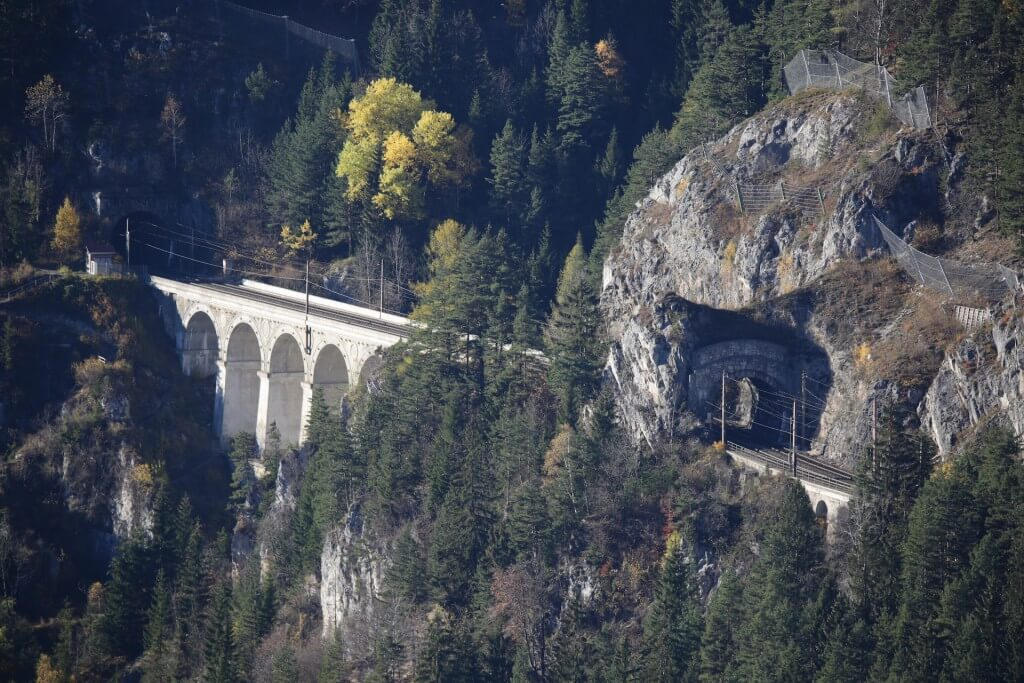 Semmering rail tunnel Polleros wall